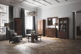 wohnzimmer komplett set e sentis 6 teilig farbe dunkelbraun