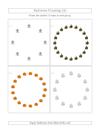 Halloween Multiplication Worksheets Grade 3 by The Counting Halloween Pictures In Circular Patterns A Math