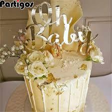 gold rosa acryl eine oh baby glücklich geburtstag kuchen topper hochzeit braut dekoration dessert backen liefert schöne geschenke