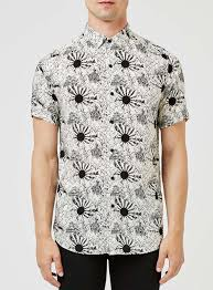 off white and black sun print casual shirt collared shirts