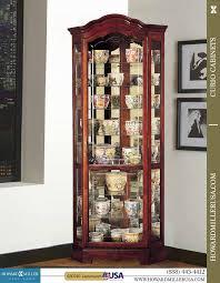 howard miller display corner curio cabinets