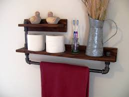 Rustic Industrial 2 Tier Towel Rack Towel Bar Bathroom Shelf Rustic ... Bathroom Cabinet With Towel Rod Inspirational Magnificent Various Towel Bar Rack Design Ideas Home 7 Ways To Add Storage A Small Thats Pretty Too Bathroom Bar Ideas Get Such An Accent Look Awesome 50 Graph Foothillfolk Archauteonluscom Modern Bars Top 10 Most Popular Rail And Get Free For Bathrooms Fancy Decorative Brushed Nickel Racks And Strethemovienet