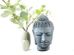 details zu buddha kopf stein skulptur ca 30cm deko statue steinfigur deko lavasand figur