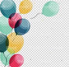 Glossy Happy Birthday Balloons on Transparent Background Vector royalty free glossy happy birthday balloons on