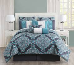 Macys Bed In A Bag by 14 Piece Justine Charcoal And Teal Reversible Bed In A Bag W 500tc