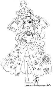Lizzie Hearts Way Too Wonderland Ever After High Coloring Pages