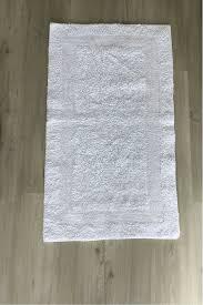 badematte fußmatte läufer badläufer badezimmer teppich creme weiß