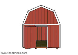 12x12 Shed Plans With Loft by 12x12 Gambrel Shed Roof Plans Myoutdoorplans Free Woodworking