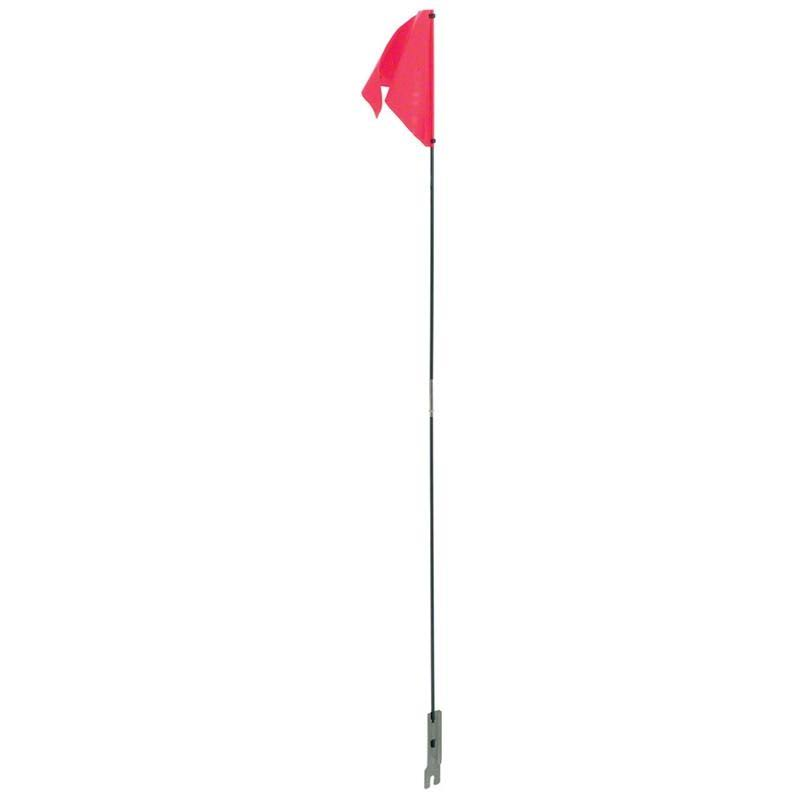 Dimension Nylon Safety Flag - Red
