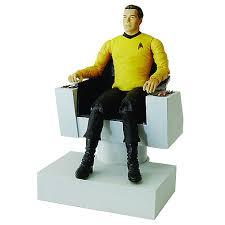Star Trek Captains Chair by Star Trek Captain Kirk Action Figure Deluxe Electronic Chair