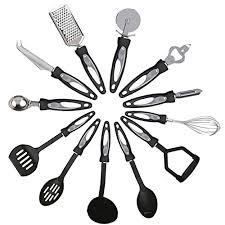 ustensile de cuisine kabalo 12 pièces en acier inoxydable de cuisine ustensile de
