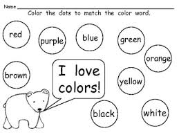 Color Words Coloring Pages