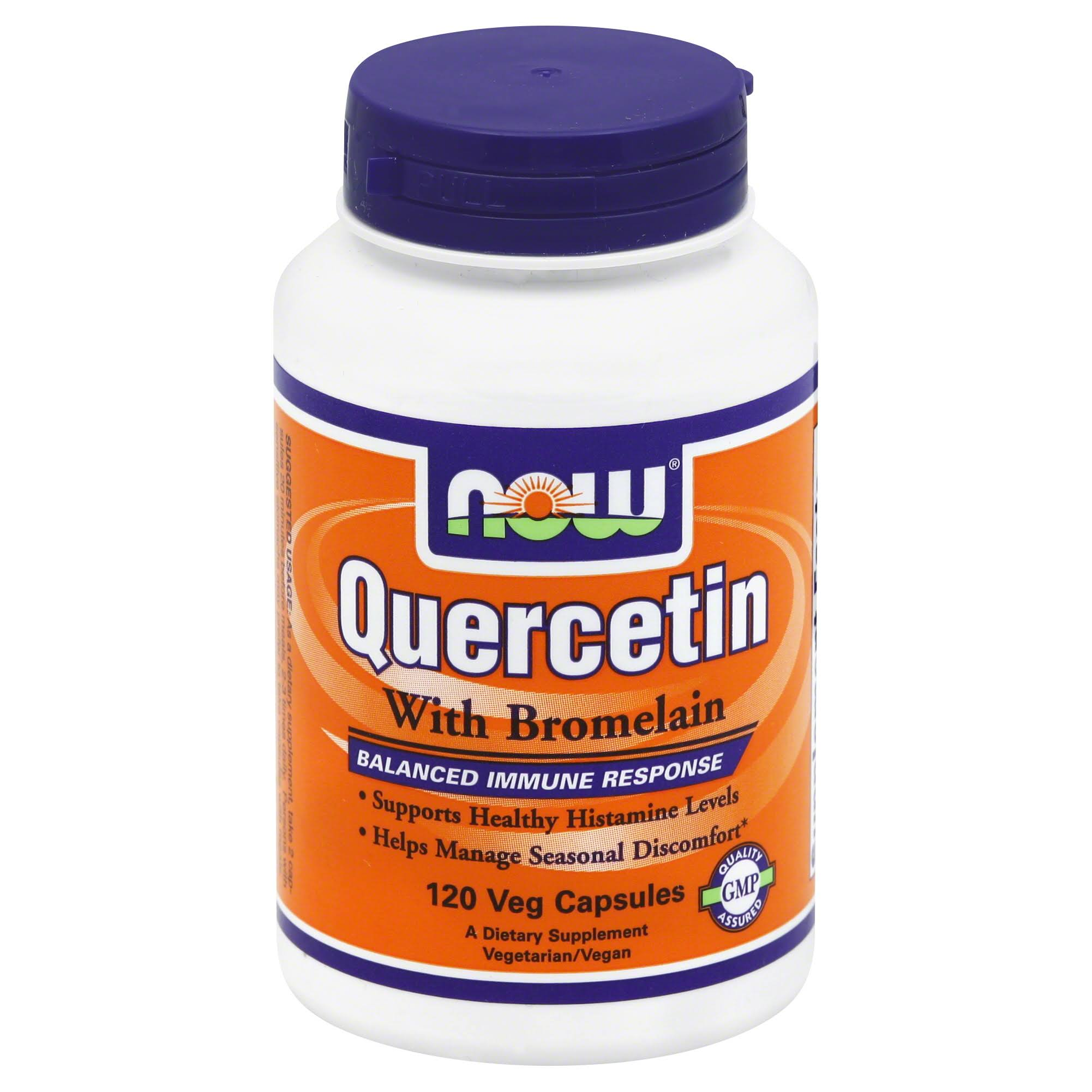 Now Foods Quercetin With Bromelain - 120 Veg Caps