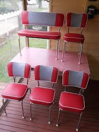 Retro Red Kitchen Chairs Small Home Remodel Ideas