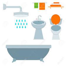 bad ausrüstung symbol wc schüssel badezimmer sauber flach stil illustration hygiene design