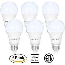 6 pack a19 75 watt equivalent led light bulbs daylight 5000k