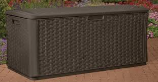Keter Glenwood Deck Box Assembly by Outdoor Wicker Deck Box Storage Quality Plastic Sheds