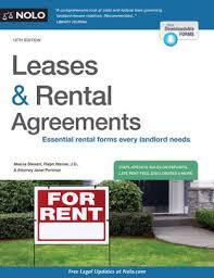 Leases & Rental Agreements by Marcia Stewart Ralph Warner Janet