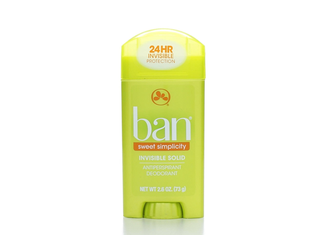 Ban Sweet Simplicity Invisible Solid Antiperspirant Deodorant - 2.6oz
