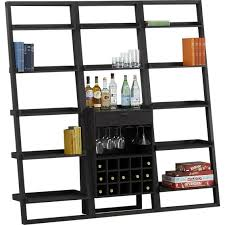 Crate And Barrel Leaning Desk by Sloane Grey Leaning Wine Bar I Crate And Barrel Home Bar