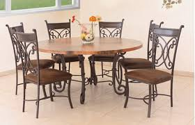 chair glamorous 6 chair round dining table set chic black sets