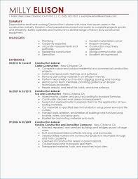 Resume Objective Samples For General Labor Fresh Examples Fluently