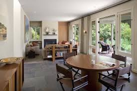 san francisco slate tile dining room contemporary with table