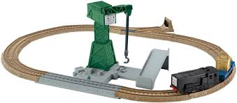 Tidmouth Shed Deluxe Set by Cranky U0027s Spinning Cargo Drop Thomas And Friends Trackmaster Wiki