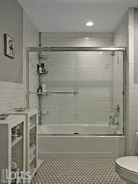 what makes small bath feel larger shower tile to ceiling or no