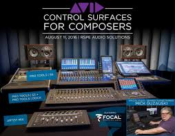 Avid Control Surfaces For Composers Featuring Focal Professional Studio Monitors