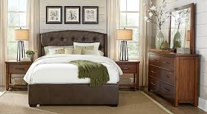 Rooms To Go Queen Bedroom Sets by Urban Plains Brown 5 Pc Queen Upholstered Bedroom Queen Bedroom
