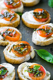 m fr canapes caprese crostini canapes caprese salad baked sandwiches