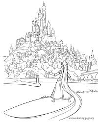 A Beautiful Scene From The Movie Tangled For First Time Rapunzel Leaves Her Tower Frozen Coloring PagesKids