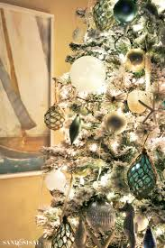 Slim Flocked Xmas Tree by How To Flock A Christmas Tree And Greenery Sand And Sisal