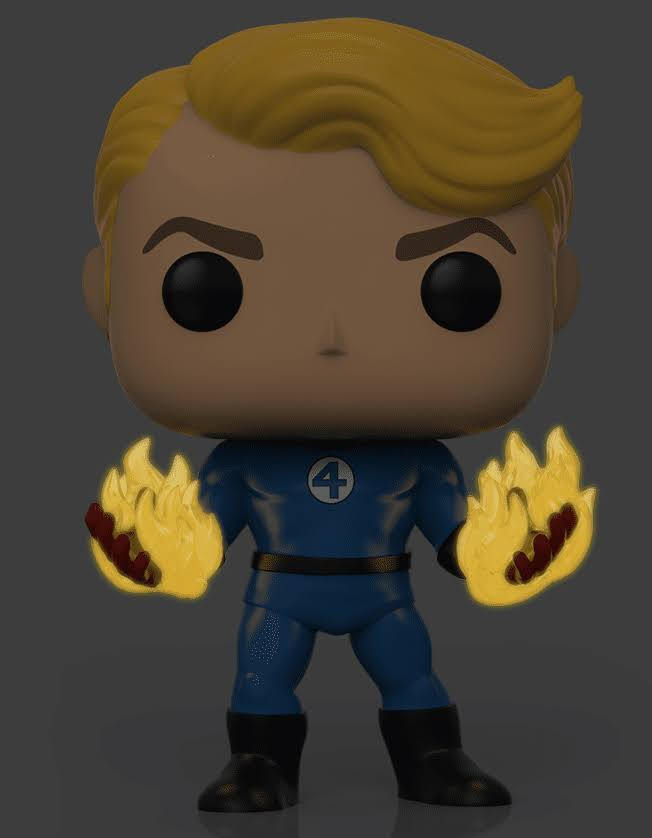 Funko Pop! Specialty Series Marvel: Fantastic Four - Human Torch (Suited)