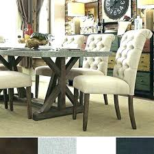 Cushioned Dining Room Chairs Fabulous Tall Upholstered Best Tufted Ideas On Dinning