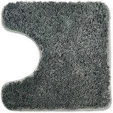 wohndirect badematten zum set kombinierbar badvorleger 45x45 cm badteppich rutschfest waschbar grau mit wc ausschnitt