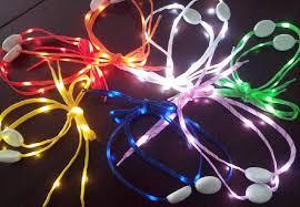 2018 2014 newest led l shoe lace fiber optic shoelace