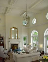 Elegant Living Room With High Ceiling