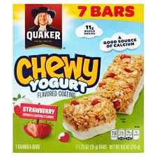 Quaker Chewy Yogurt Strawberry Granola Bars 7 Count 123 Oz