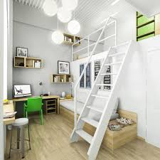 Cool Modern White Interior Home Bedroom Study Loft Space