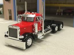 100 Toy Peterbilt Trucks 164 DCP REDBLACK 379 PETERBILT DAYCAB In S Hobbies Diecast