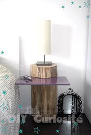 deco tronc d arbre table de chevet tronc d arbre plaque de verre récup diy