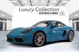 Pre-Owned 2017 Porsche 718 Cayman S Rare Miami Blue Only 5k Miles ...