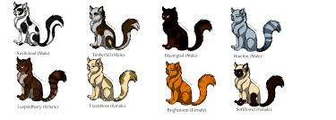 warrior cat names free warrior cat breedables by 20 on deviantart