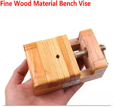 DIY Tool Work Pine Wood Material Bench Vise Jaw Vice Clamp 75MM Width To