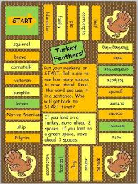 FREE Board Game To Reinforce November Science And Social Studies Vocabulary