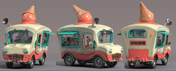 100 Icecream Truck ArtStation Ice Cream Nikie Monteleone