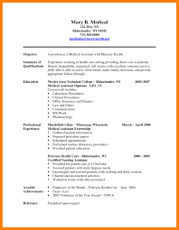 Medical Assistant Resume ExamplesCertified Sample 2016