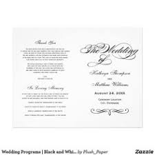 Calligraphy Wedding Programs